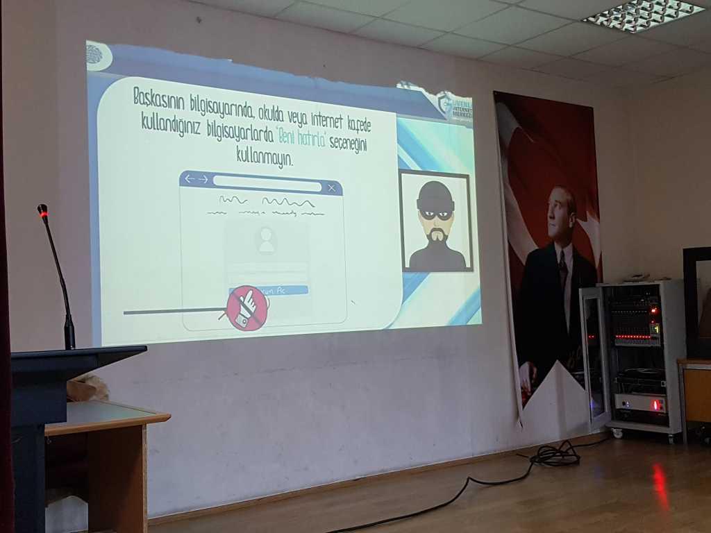 Ankara Çağrı Bey Anadolu Lisesi Bilinçli ve Güvenli İnternet Semineri