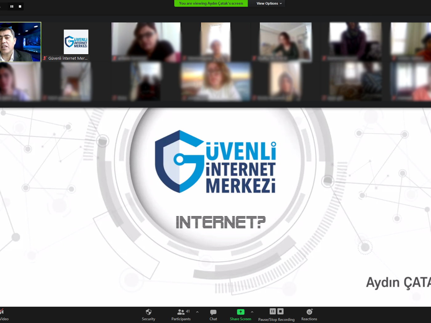 İzmir Ödemiş Bademli Şükrü Saraçoğlu İlkokulu Velilerine Yönelik Online Eğitim