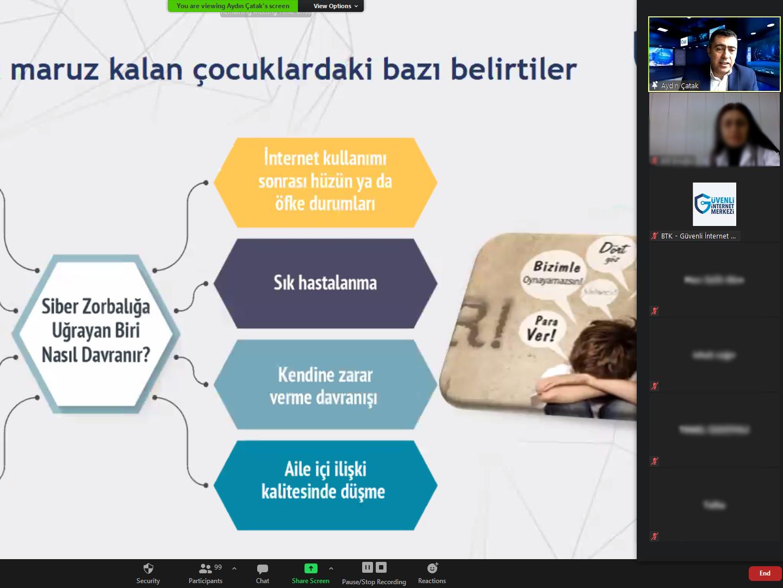 Trabzon Ortahisar Trabzon Mesleki ve Teknik Anadolu Lisesi Velilerine Yönelik Online Eğitim