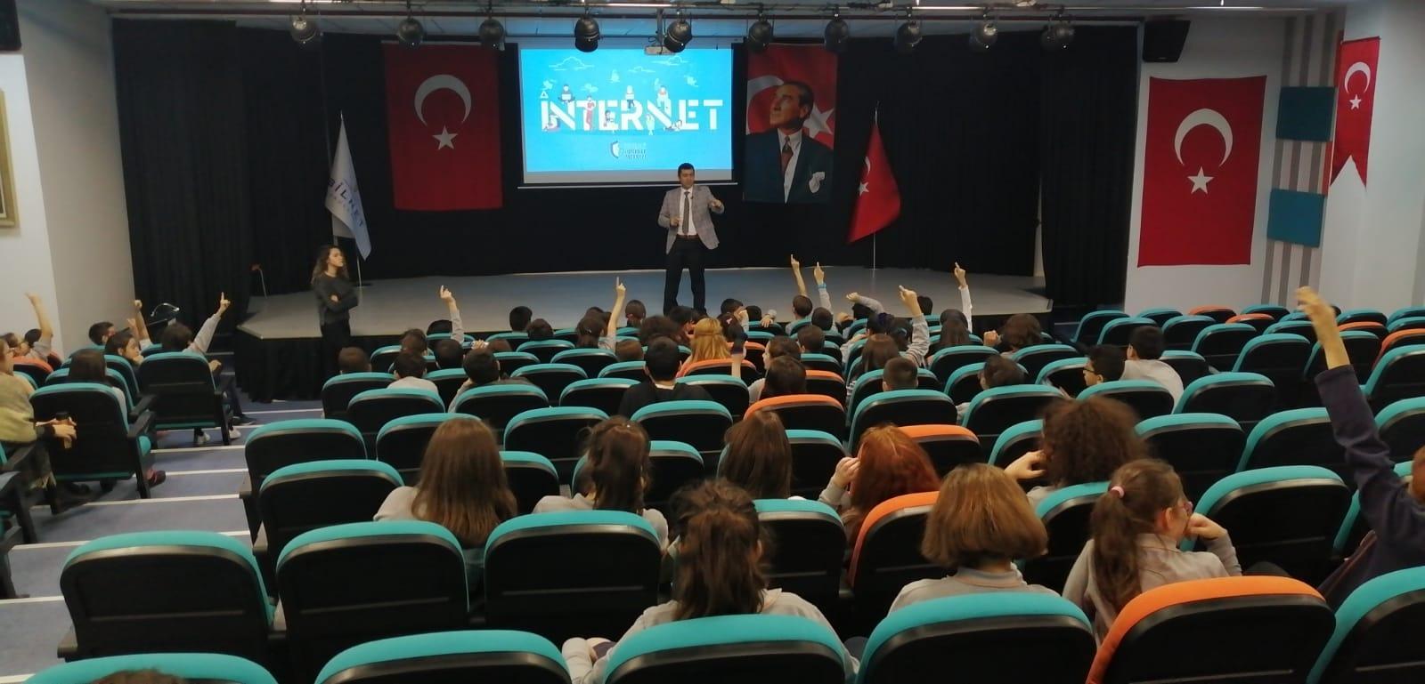 Ankara Yenimahalle Bilnet Okulları Öğrencilerine, Bilinçli Ve Güvenli İnternet Semineri