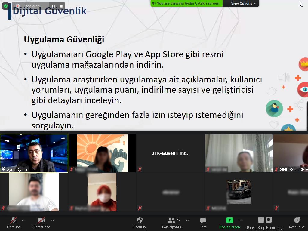 eTwinning Projesi Kapsamında Zonguldak Zübeyde Hanım Mesleki ve Teknik Anadolu Lisesi Öğrencilerine Yönelik Online Eğitim