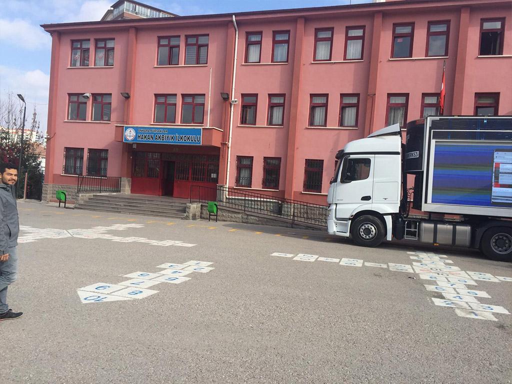 Güvenli İnternet Tırı Ankara Pursaklar Hakan Akbıyık İlköğretim Okulu'nda