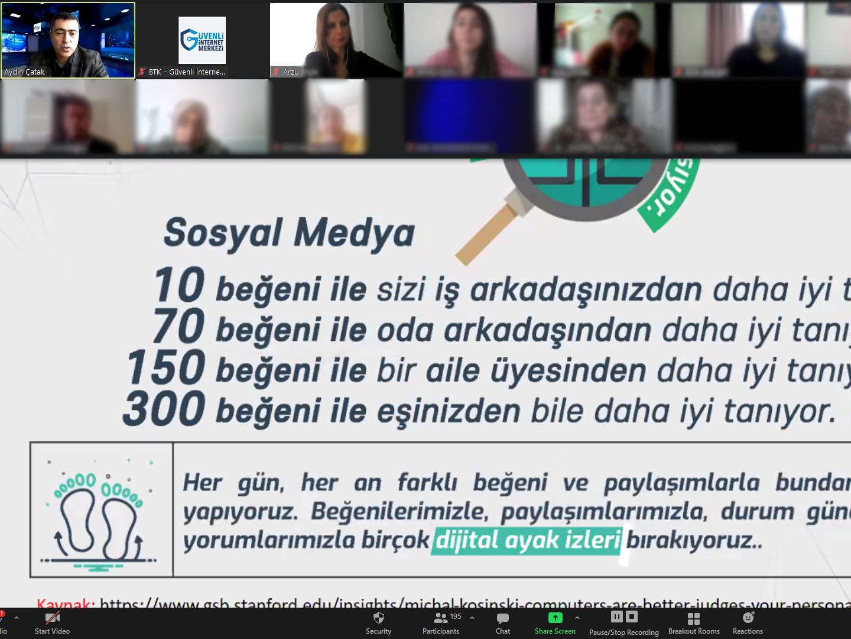 eTwinning Projesi Kapsamında Konya Selçuklu Yazır Şehit Osman Küçükdillan İlkokulu Velilerine Yönelik Online Eğitim