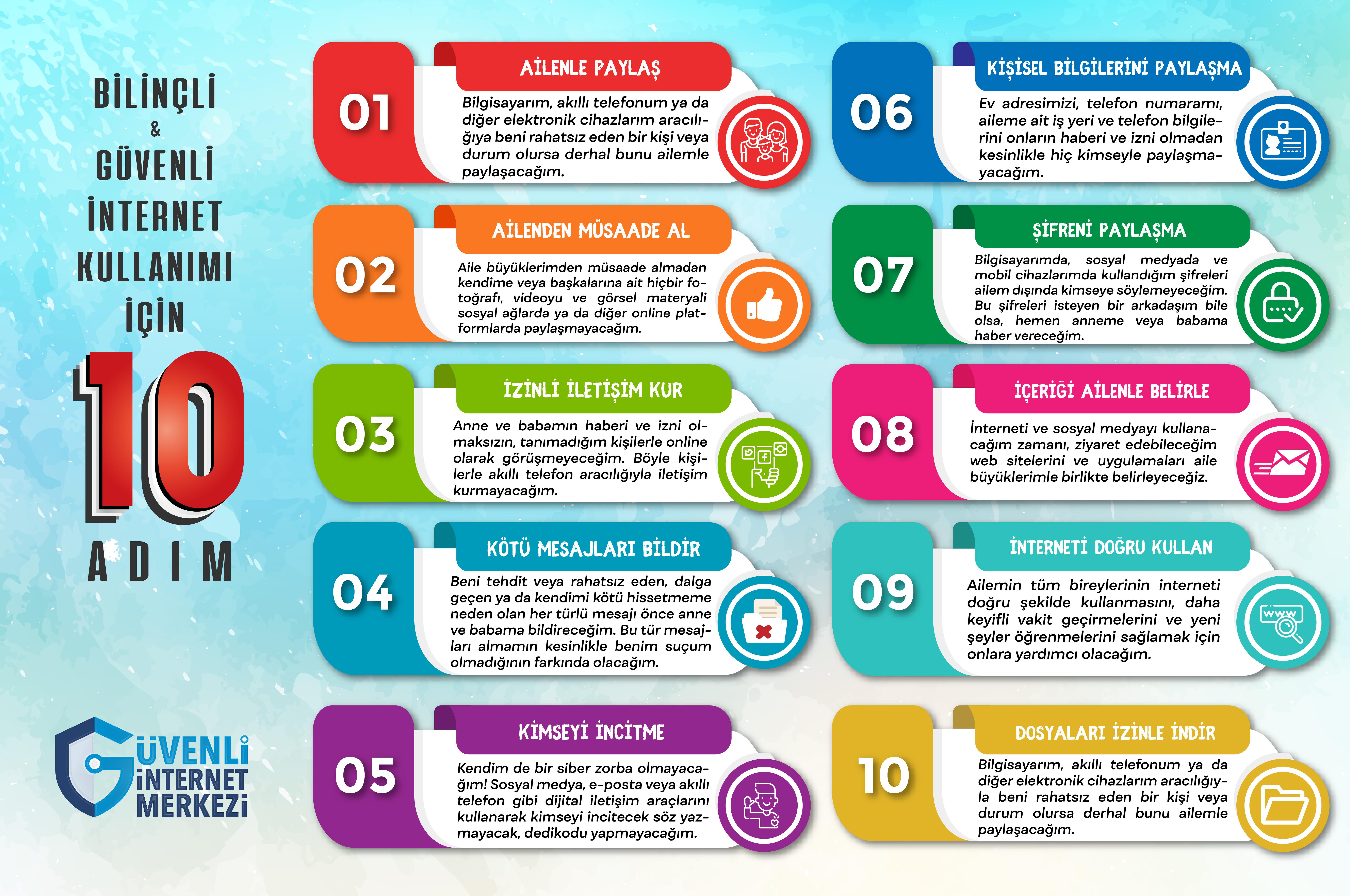 Bilinçli ve Güvenli İnternet için 10 Kural