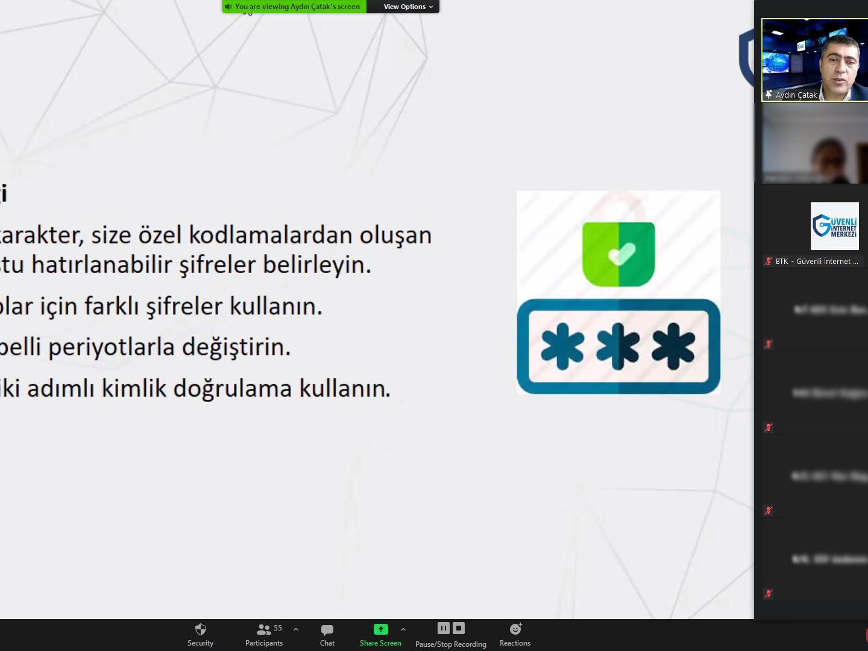 Ankara Çankaya Çiğdem Anadolu Lisesi Öğrencilerine Yönelik Online Eğitim