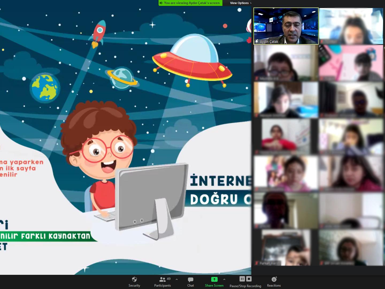 Ankara Çankaya Hamdullah Suphi İlkokulu Öğrencilerine Yönelik Online Eğitim