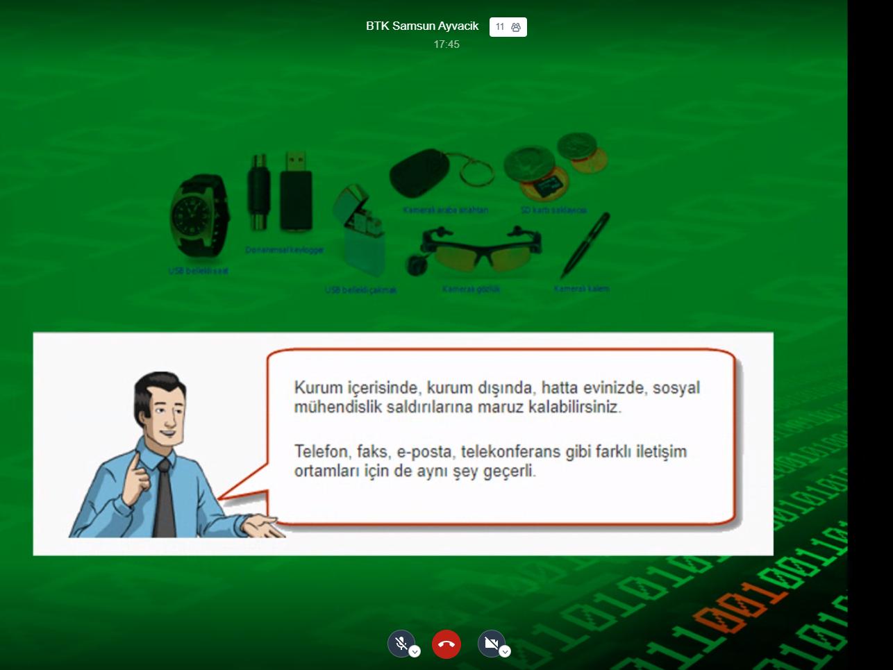 Samsun Ayvacık Kaymakamlığı Personeline Yönelik Online Eğitim