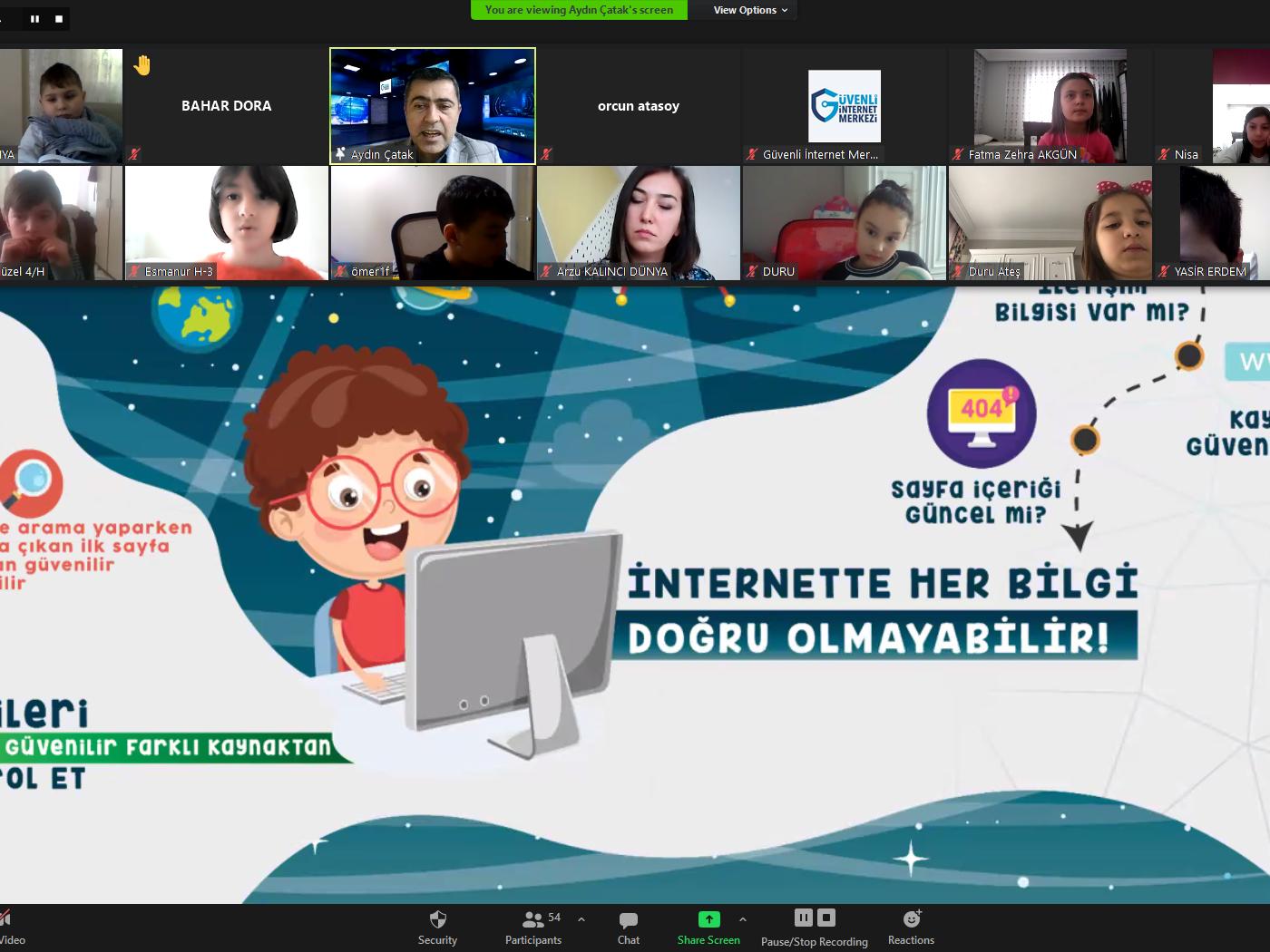 Zonguldak Ereğli İzmirlioğlu İlkokulu Öğrencilerine Yönelik Online Eğitim