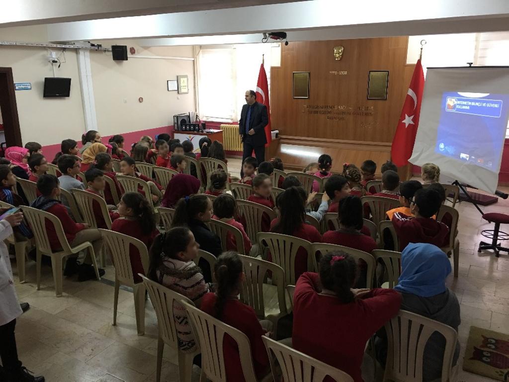 Trabzon Çarşıbaşı Kadıköy İlkokulu'nda Bilinçli ve Güvenli İnternet Semineri