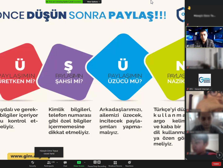 eTwinning Projesi Kapsamında Konya Selçuklu Yazır Şehit Osman Küçükdillan İlkokulu Öğrencilerine Yönelik Online Eğitim