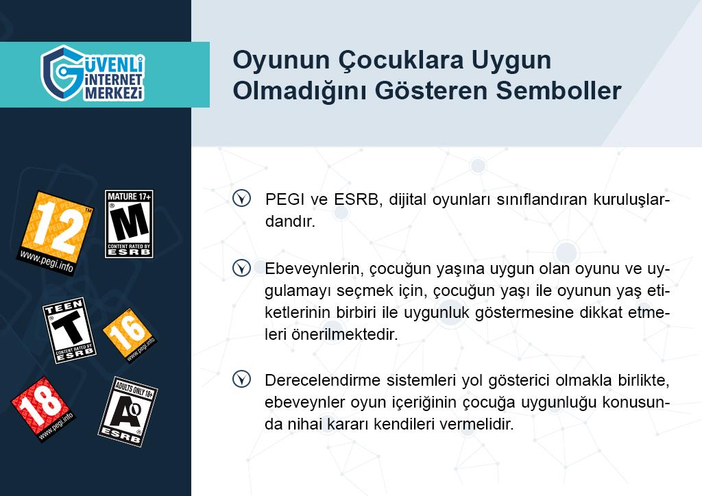 Dijital Oyunların Çocuklara Uygun Olmadığını Gösteren PEGI ve ESRB Sembolleri Nelerdir?