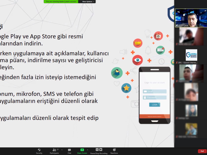 İzmir Konak Rıdvan Nafiz Edgüer Ortaokulu Öğrencilerine Yönelik Online Eğitim