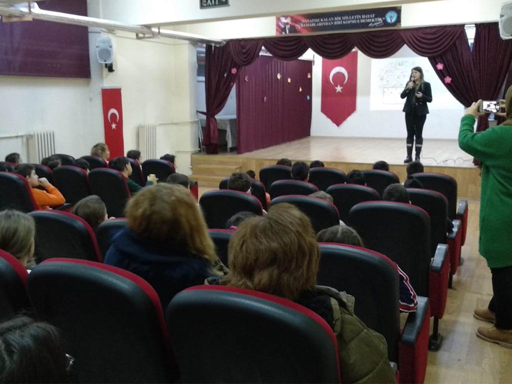 Ankara Etimesgut Eryaman Türkkonut İlkokulunda, Bilinçli ve Güvenli İnternet Semineri
