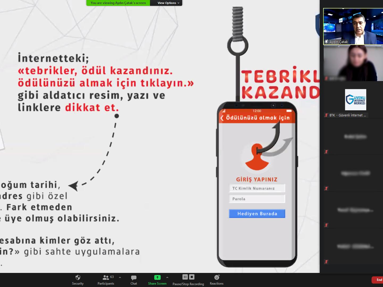 Trabzon Ortahisar Trabzon Mesleki ve Teknik Anadolu Lisesi Öğrencilerine Yönelik Online Eğitim